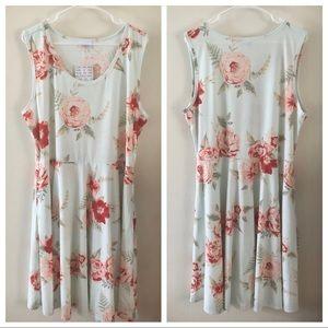 LULAROE | Nicki Sleeveless Floral Print Dress 3X